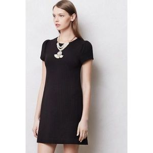 Anthropologie Maeve Black Shift Dress Size XS